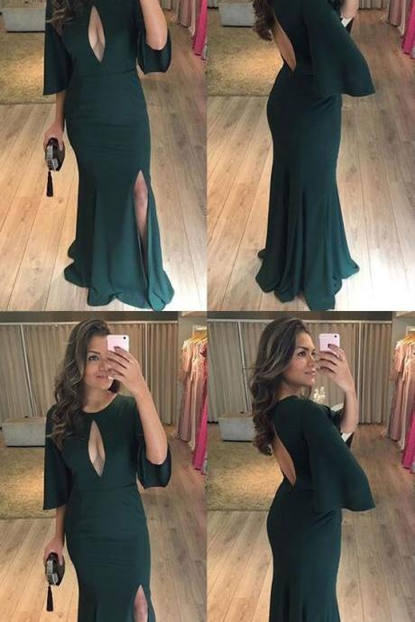 elegant prom party dresses with key hole, fashion mermiad evening gowns fo special occasion